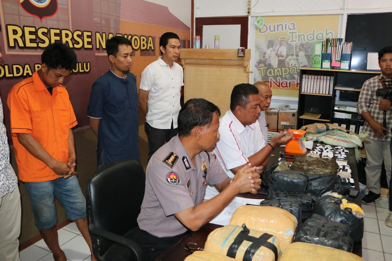 Amankan 40 KG Ganja, Polda Bengkulu Selamatkan 5000 Jiwa