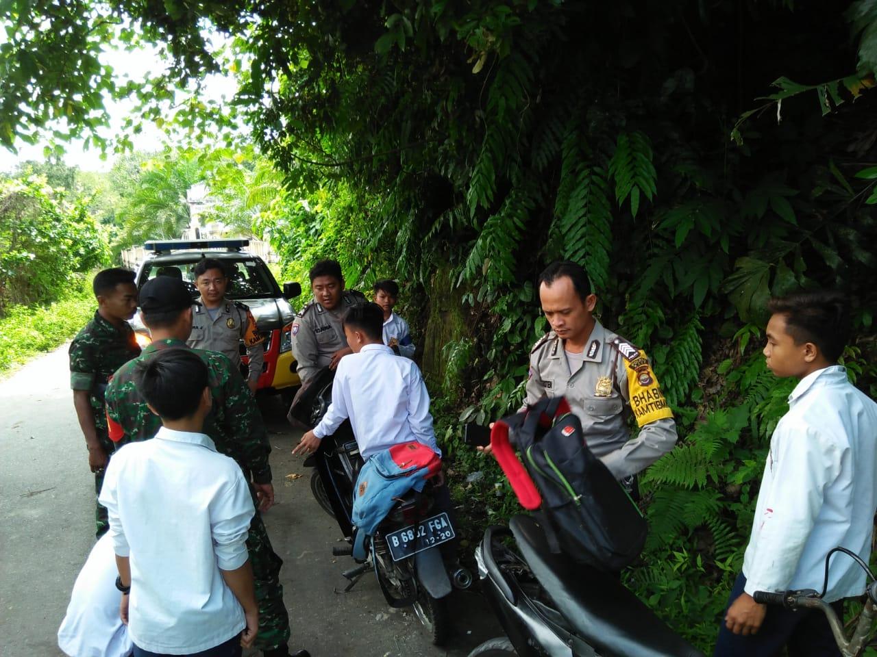 Temukan Siswa Bolos Sekolah, Tim Patroli Bersama TNI/POLRI Beri Himbauan