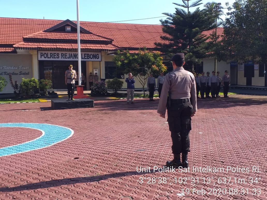 Amankan Pilkades Serentak, Polres Rejang Lebong Gelar Upacara Pergeseran Pasukan