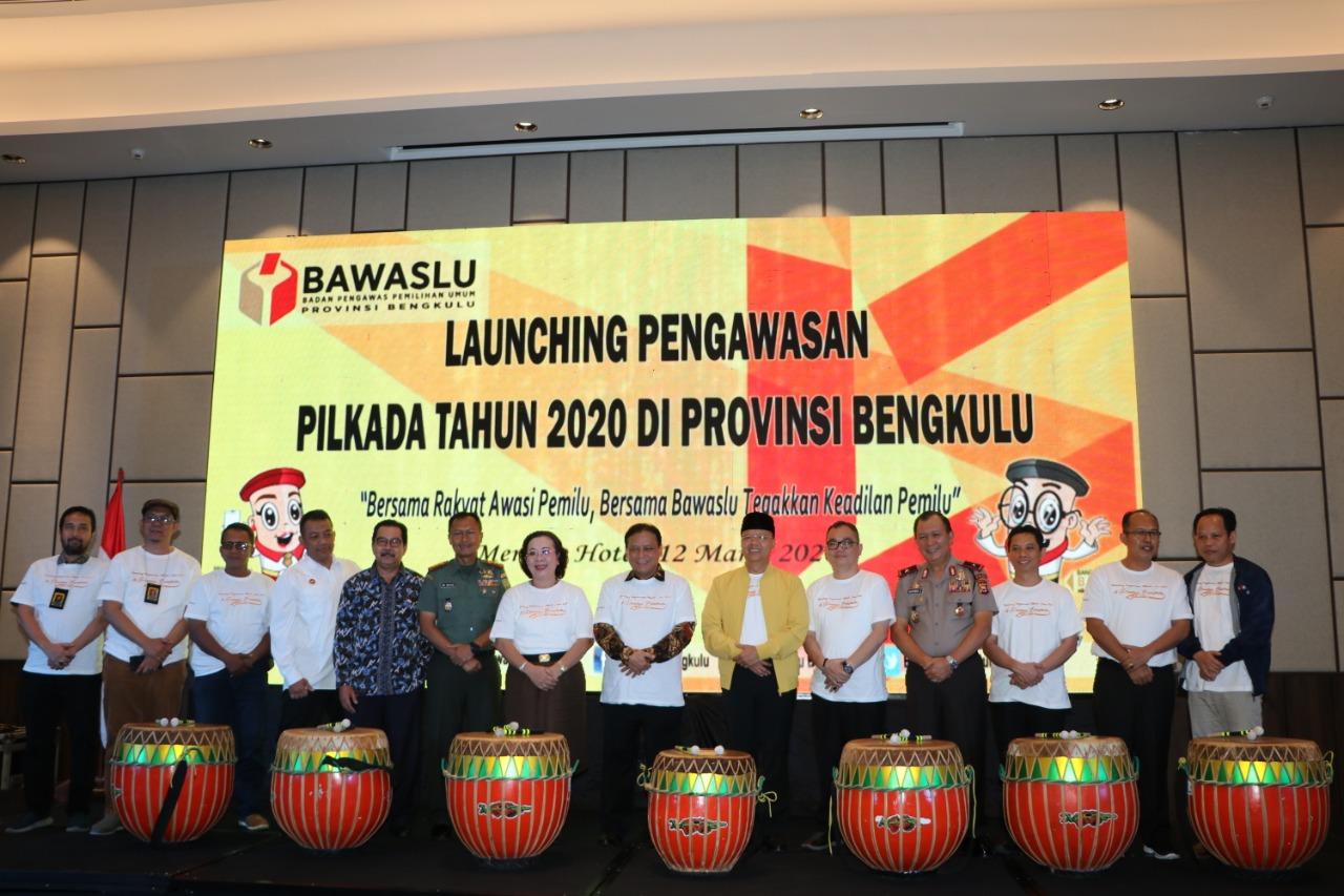 Siap Bersinergi Menyukseskan Pilkada 2020 di Bengkulu, Wakapolda Ikuti Kegiatan Launching Pengawasan Bawaslu