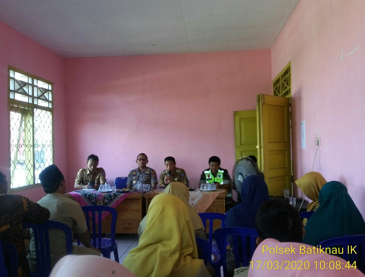 Hasil Rakor, Kecamatan Batiknau Bentuk Posko Pencegahan Virus Corona