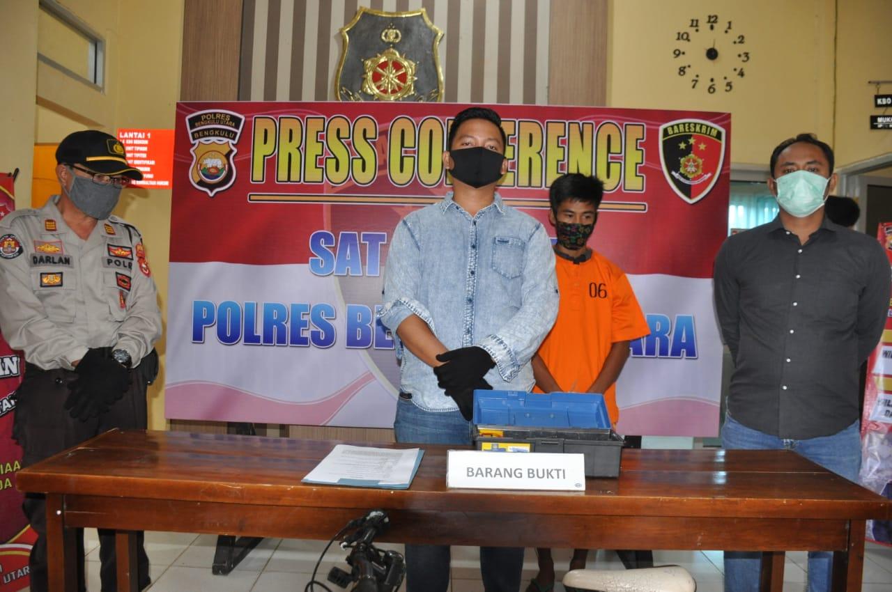 Maling Sepeda Malam Hari, Pemuda Desa Lubuk Sahung Ditangkap Polres BU
