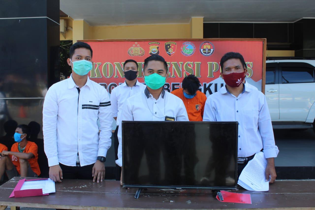 Terlibat Curat, 3 Pemuda Ditangkap Polres Bengkulu