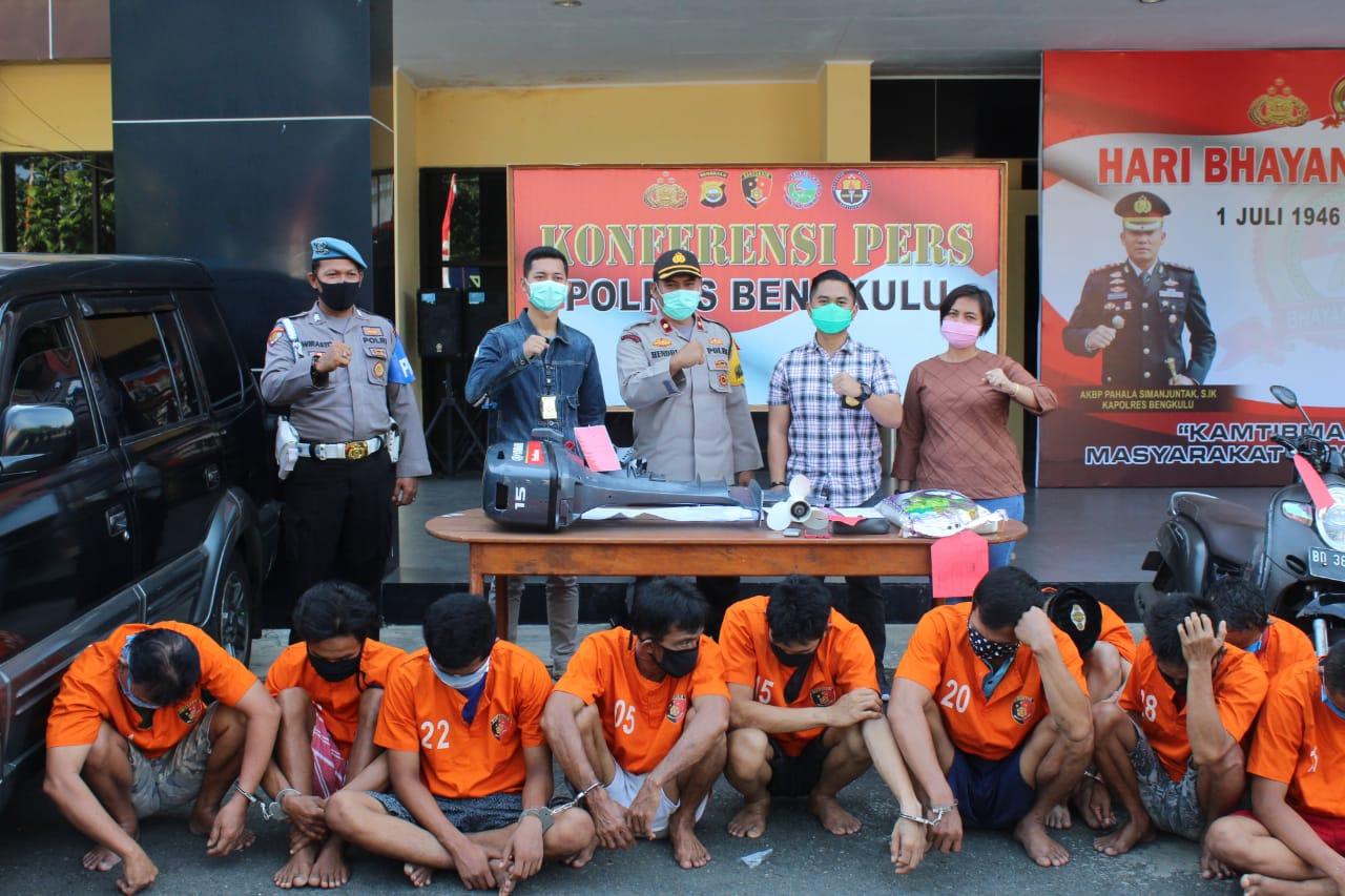 Diamankan Sat Reskrim Polres Bengkulu, SY Ditetapkan Sebagai Pelaku Curat