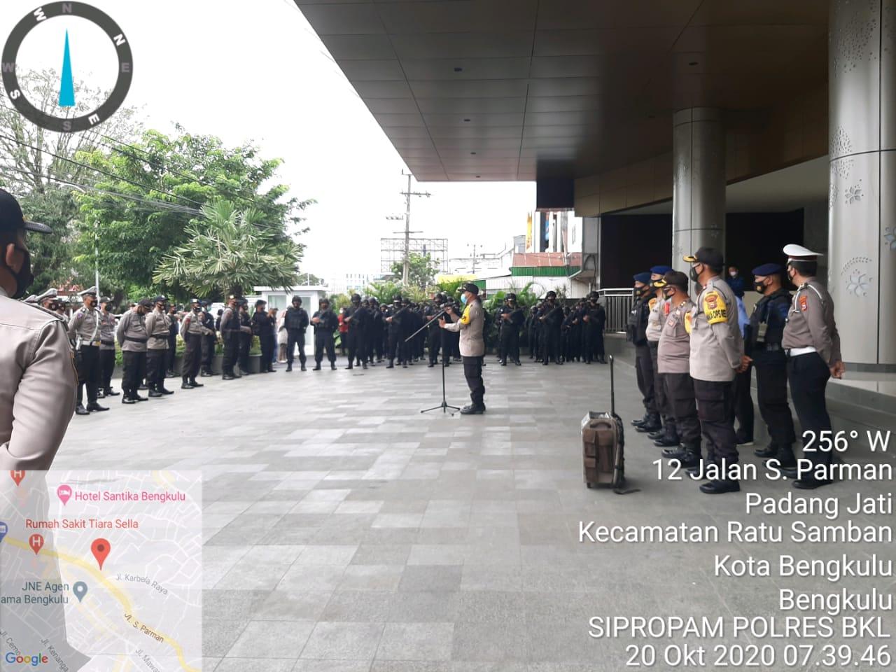 Tahapan Pilkada Serentak, Polda Bengkulu Amankan Rapat Pleno KPU