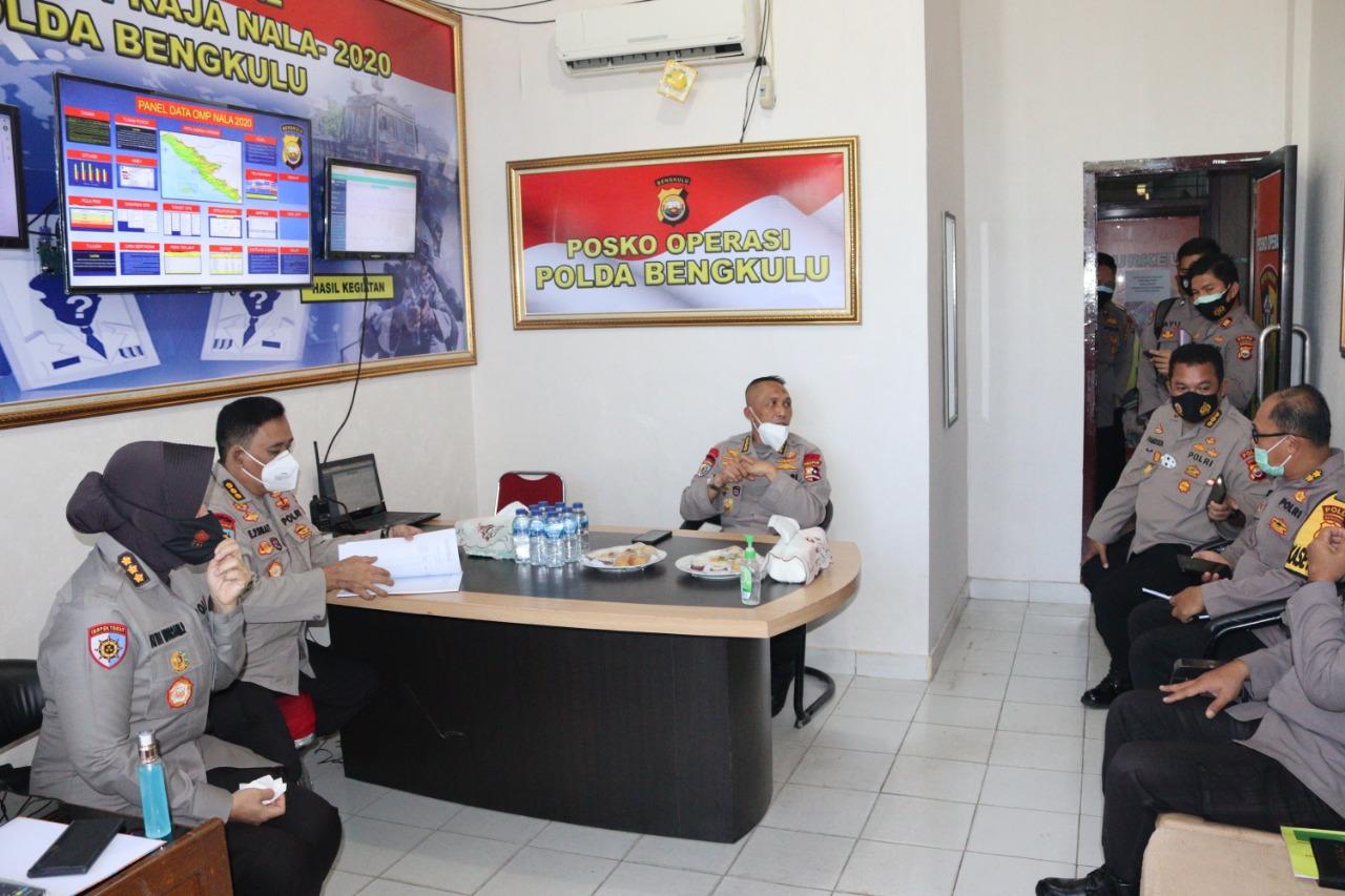 Tim WasOps Mabes Polri Cek Kesiapan Polda Bengkulu Dalam Menghadapi Pilkada Serentak