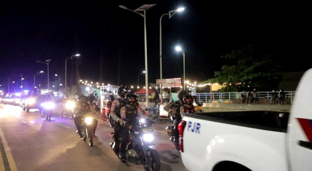 Polda Bengkulu Gelar Patroli Skala Besar Cegah Kerumunan Malam Pergantian Tahun Baru 2021