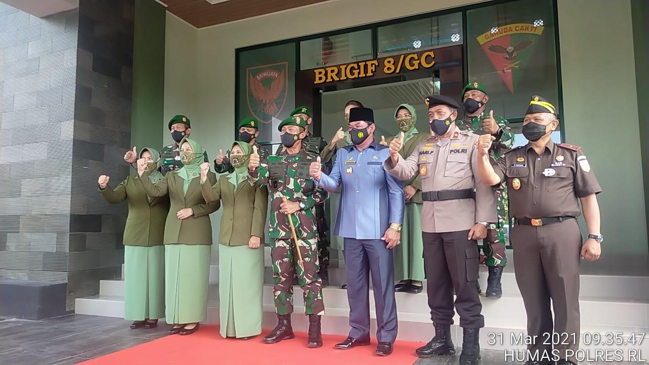 Wakapolda Bengkulu Hadiri Upacara Peresmian Satuan Brigade Infanteri (Brigif) 8/Garuda Cakti (GC) Kodam II/Swj