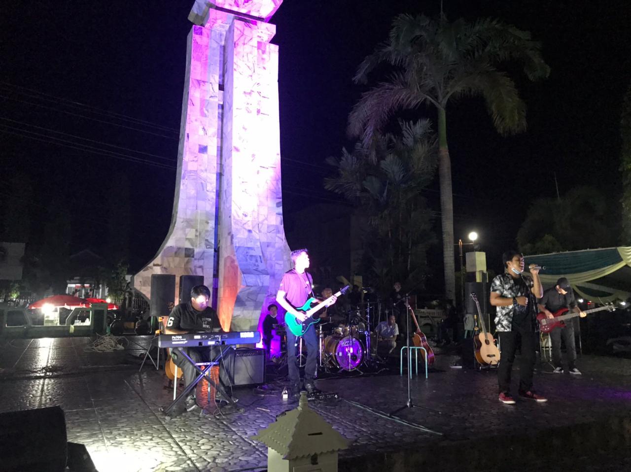 Polres BS Kawal Konser Penggalangan Dana Bencana NTT Sesuai Prokes Covid-19