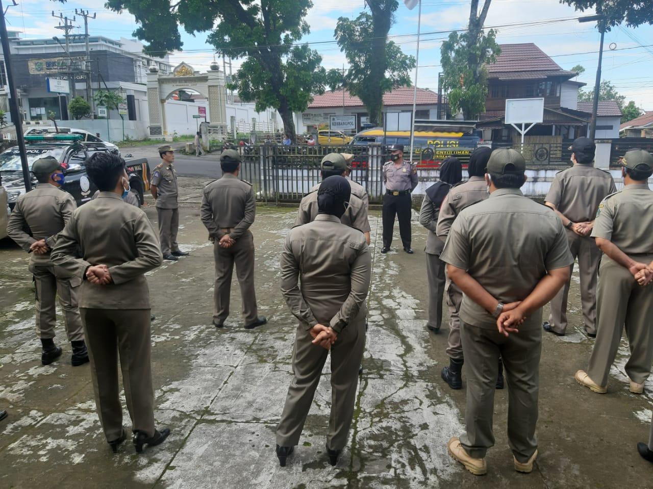 Fungsi Pembinaan, Sat Binmas Polres RL Gelar Apel Pagi Bersama Satpol PP