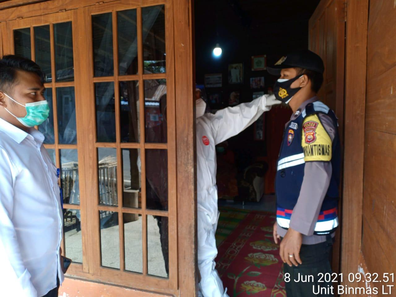 Penanganan Covid-19,  Polda Bengkulu Turunkan Anggota Lakukan Pendampingan