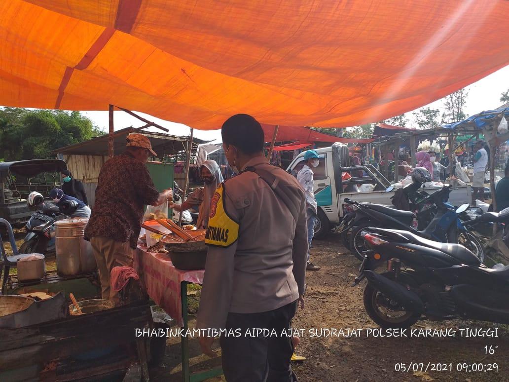 Sambang Pasar Mingguan, Tiga Pilar Binluh Prokes