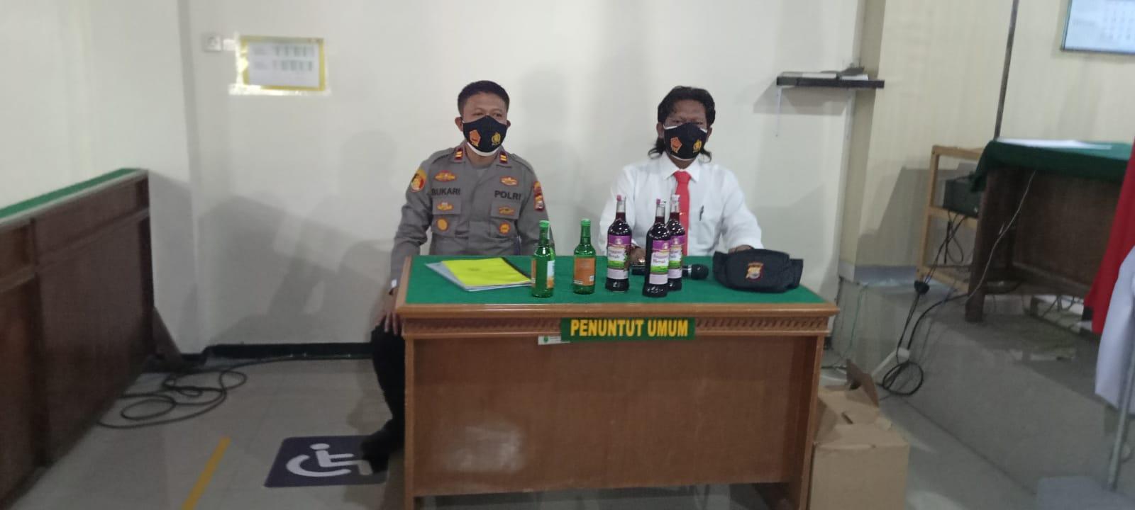 Sidang Tipiring, Penjual Miras Tanpa Ijin Didenda Dua Juta