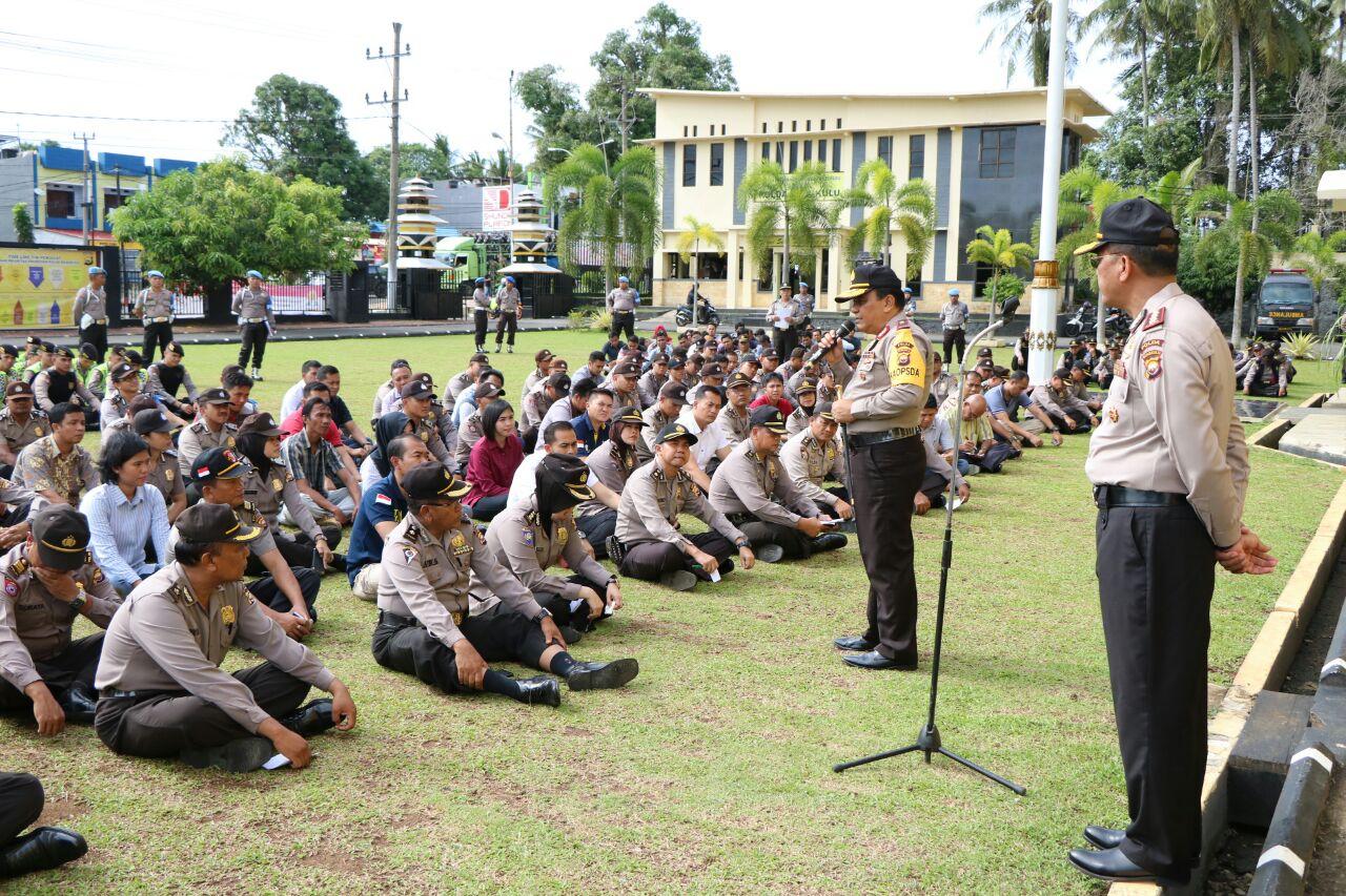 Kapolda Bengkulu; Masyarakat Libur, Kita Tingkatkan Pengamanan