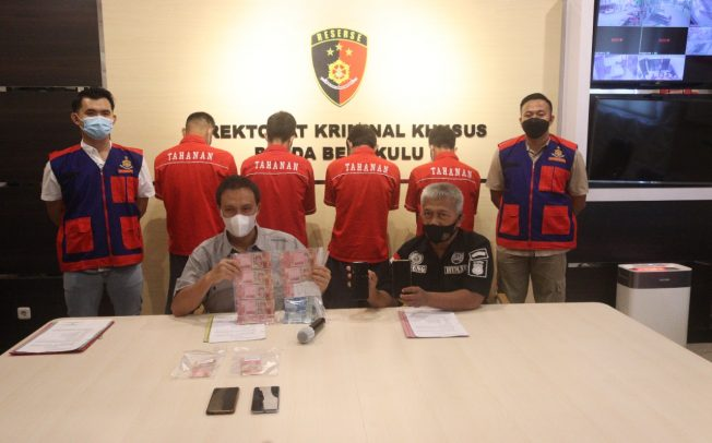Potong Bansos UMKM, 4 Perangkat Desa Ditangkap Ditreskrimsus Polda Bengkulu