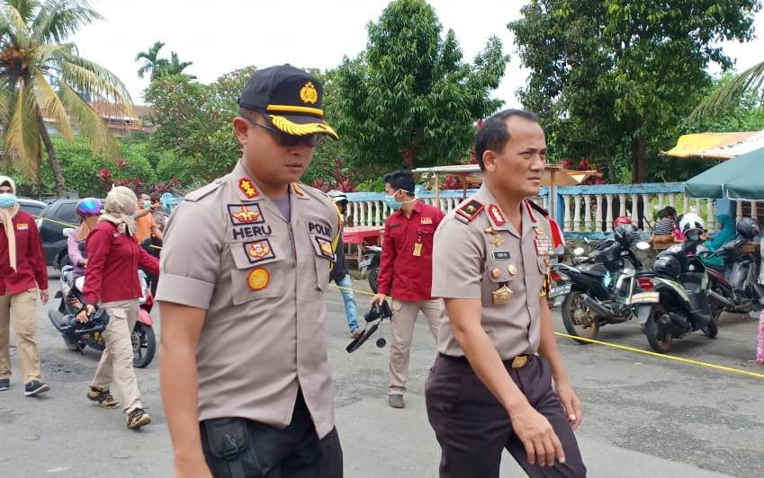 Kapolres Bengkulu Dampingi Kapolda Bengkulu Pantau Pemadaman PTM