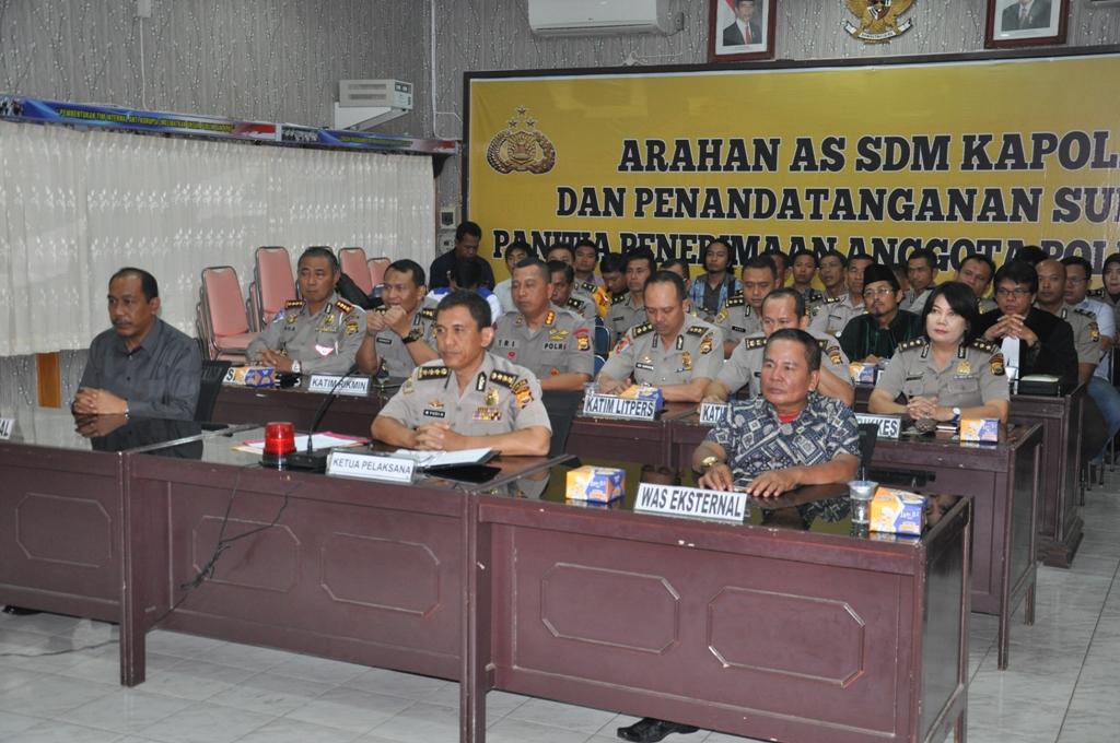 ASS SDM Kapolri Beri Arahan Terkait Rekrutmen Polri Tahun 2017