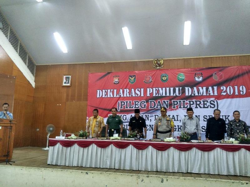 Polres BS Gelar Deklarasi Pemilu Damai