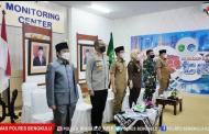 Bahas Perkembangan Covid-19, Kapolres Bengkulu dan FKPD  Ikuti Vicon Bersama Presiden