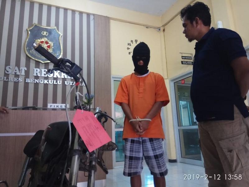 Curi Motor, pemuda Ditangkap Polisi