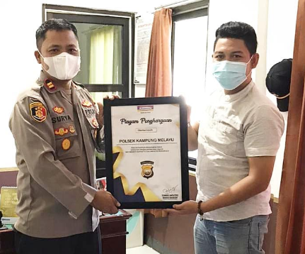 Berhasil Ungkap Pencurian, Indomaret Berikan Piagam Penghargaan Kepada Polsek Kampung Melayu