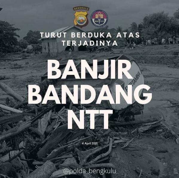 Polda Bengkulu Sampaikan Duka Cita Atas Bencana Banjir di NTT