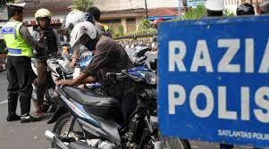 Razia Rutin, Puluhan Kendaraan Di tilang