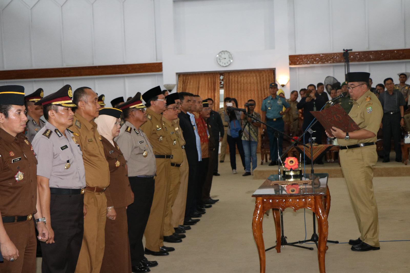 Gubernur Kukuhkan Satgas Saber Pungli Provinsi Bengkulu