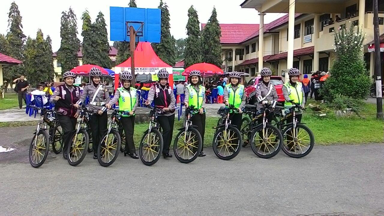 """Patroli Sepeda, Polwan Polres Rejang Lebong Tangkal """"3 C"""""""