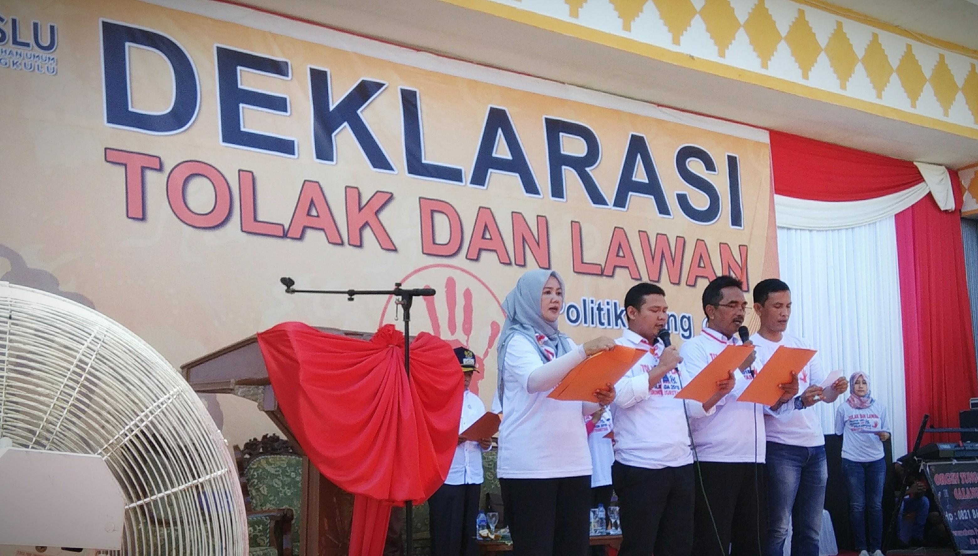 Polres Bengkulu Amankan Deklarasi Tolak dan Lawan Politik Uang dan SARA