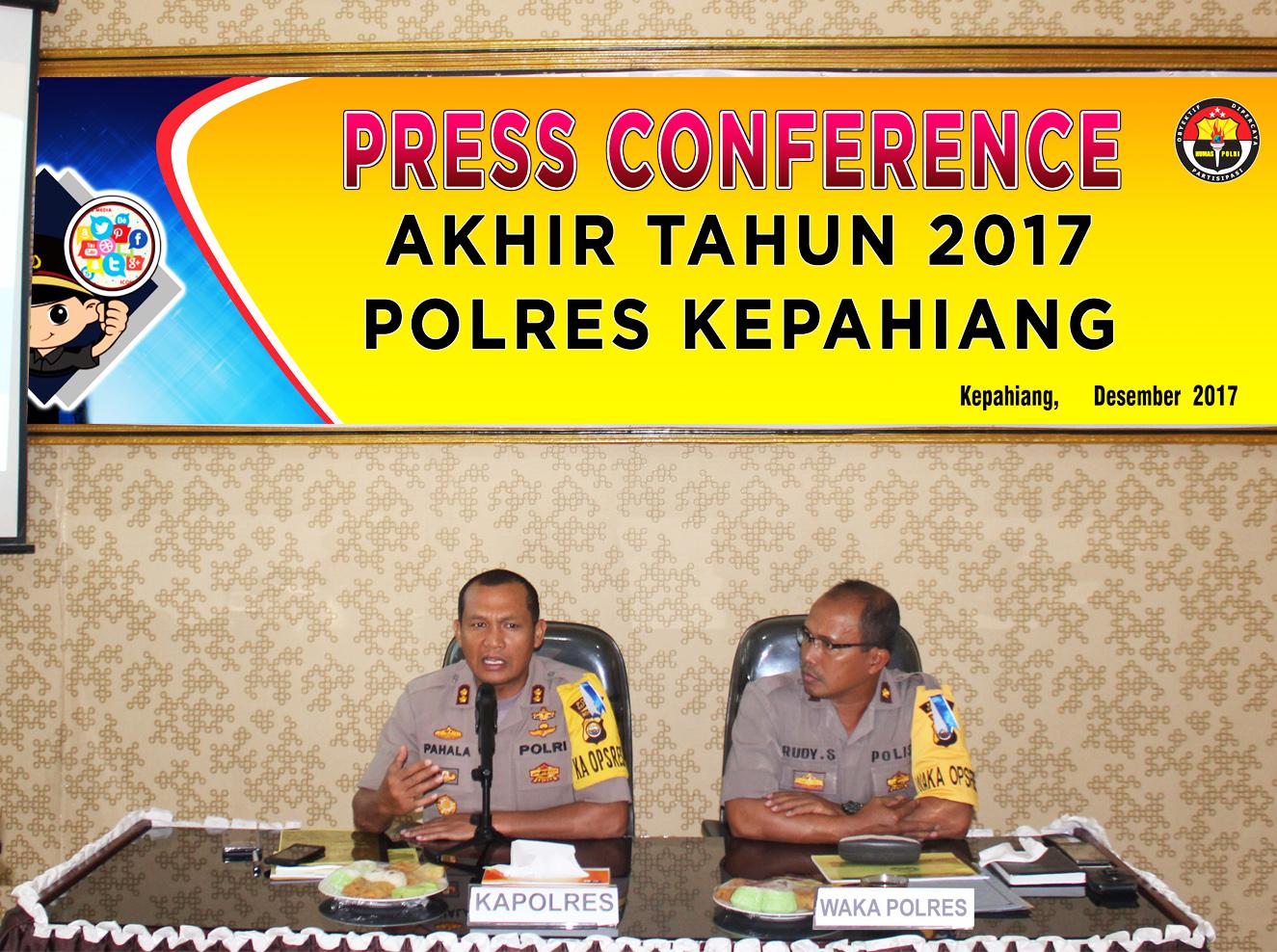 Tahun2017, Polres Kepahiang Berhasil Tingkatkan Penyelesaian Kasus Kriminal