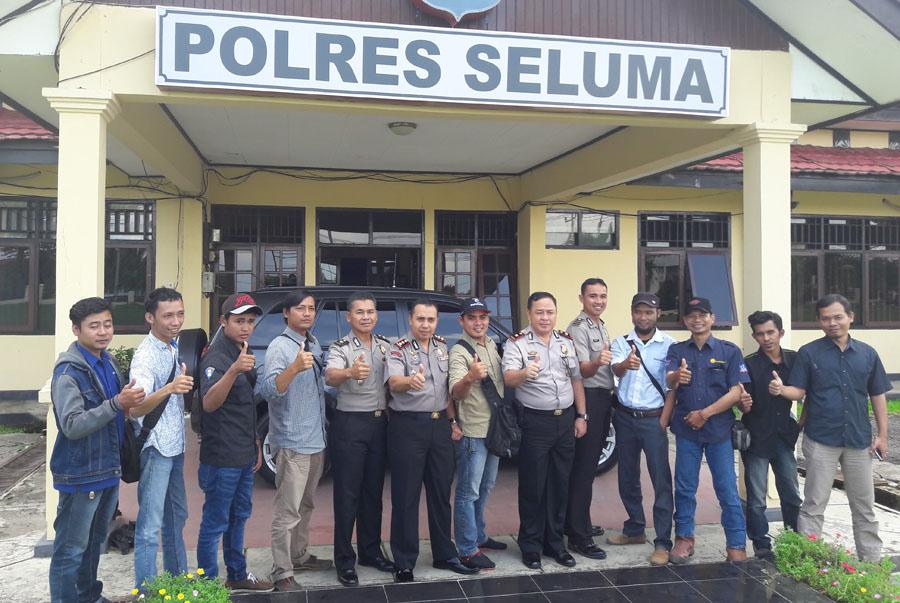 Sinergitas Polisional, Kapolres Seluma Undang Wartawan Diruang Kerjanya