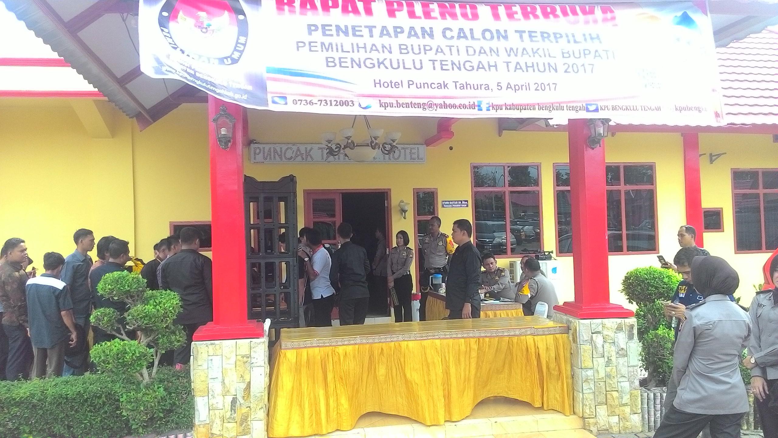 Polda Back Up Pengamanan Penetapan Pasangan Terpilih Pilkada Bengteng